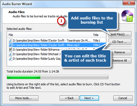 Input Audio Files
