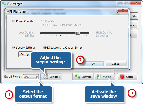 Preset Output Settings